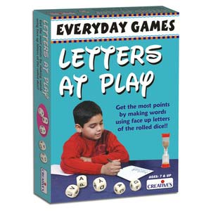 creative everyday games letters at play