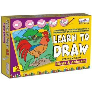 creative learn to draw 2 birds and animals