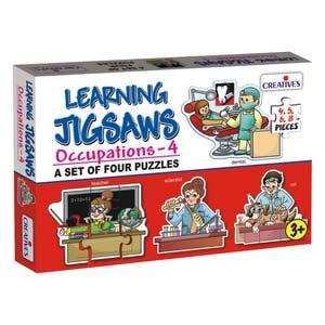 creative learning jigsaws occupations four