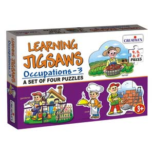 creative learning jigsaws occupations three
