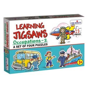 creative learning jigsaws occupations two