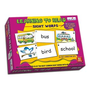 creative learning to read sight words