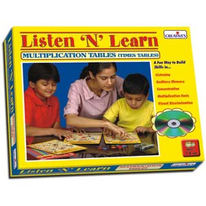 creative listen and learn multiplication tables cd