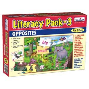 creative literacy pack iii opposites