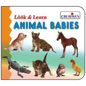 creative look and learn board book baby animals