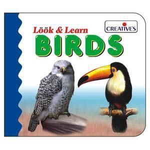 creative look and learn board book birds