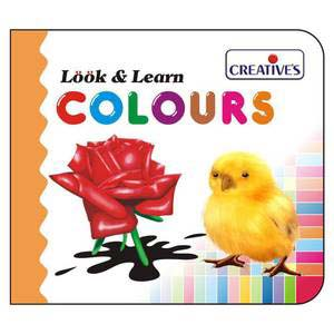 creative look and learn board book colours