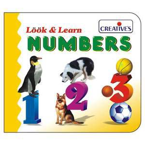 creative look and learn board book number