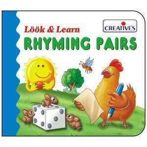 creative look and learn board book rhyming pairs