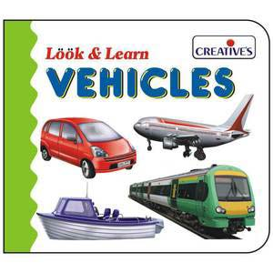 creative look and learn board book vehicles