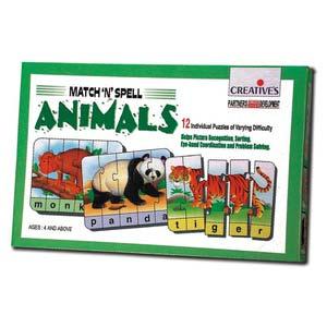 creative match n spell animals