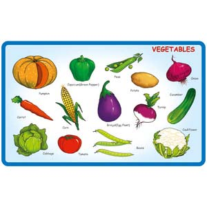 creative play and learn vegetables