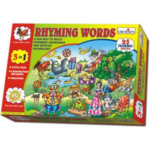 creative rhyming words reading puzzles