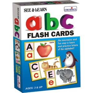 creative see and learn alphabet flash cards