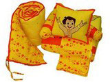 Crib set Chhota Bheem Dolphin Yellow