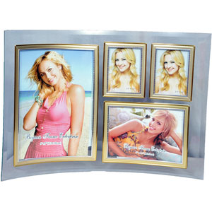 curved glass collage photo frame 4 pictures