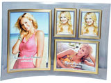 Curved Glass Collage Photo Frame, 4 Pictures