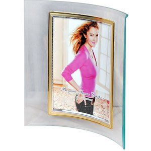 curved glass photo frame 1 picture 5x7