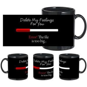 delete feelings black mug