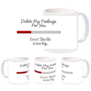 delete feelings mug