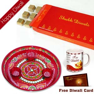 diwali chocolates with mug for brother