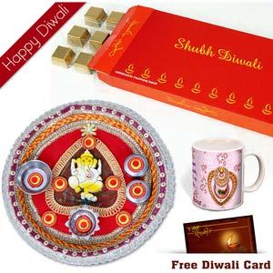 diwali chocolates with mug for sister