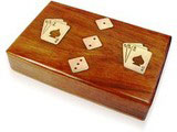 Double Cards with Dice in a box