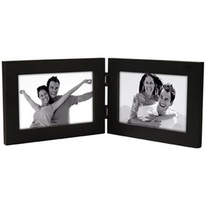 double folding photo frames 5x7 black landscape collage frame