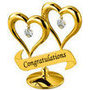 DOUBLE HEART (WITH CONGRATULATIONS) - image