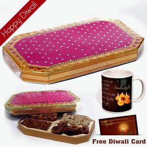 dryfruits with diwali wishes mug