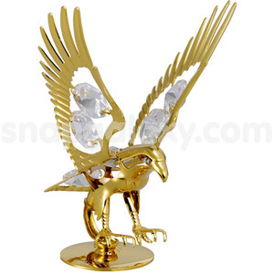 eagle gold plated with swarovski crystals