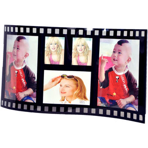 family collage photo frame black 5x7 5 pictures