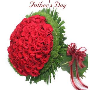 fathers day 100 red rose