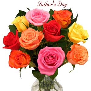 fathers day lush roses