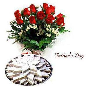 fathers day roses and sweets