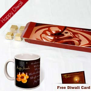 fine chocolates with diwali wishes mug