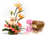 Feeling Of Joyfulness, Flowers & Teddy