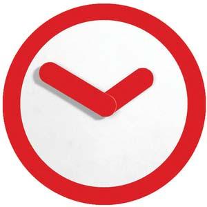 focus by henk stallinga designer clock from nextime 2615ro