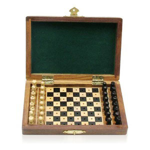 folding travel chess wooden games