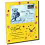 for a special friend photo frame with clock