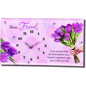 for a special friend quotation table clock