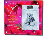 For Mom & Dad Photo Frame with Clock