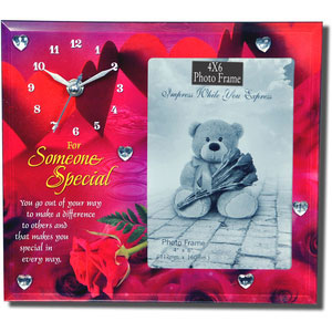 for someone special photo frame with clock