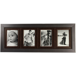 four frames panel brown collage frame