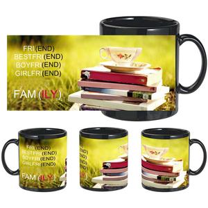 friend family black mug