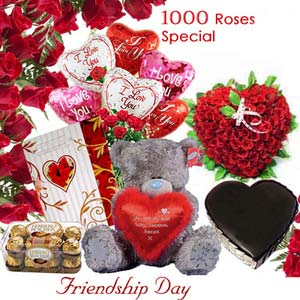 friendship day fnp friendship 1000 roses exfd23