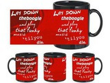 Funky Quotes Black Mug