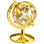 globe small gold plated with swarovski crystals
