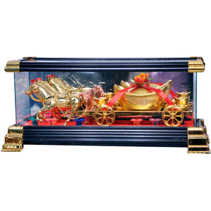 good luck gift feng shui horse baggi cart home decor