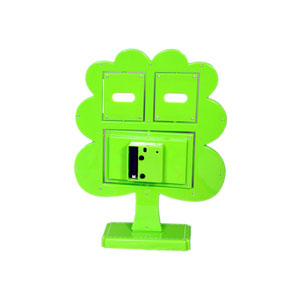 green tree photo frame clock 2 pictures